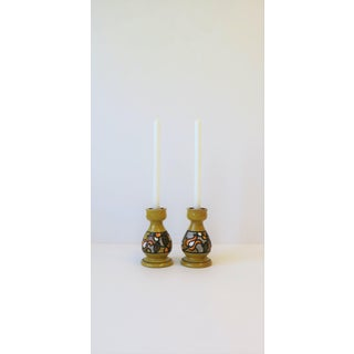 Pair of Italian Rosenthal Netter Yellow Pottery Candlestick Holders Preview