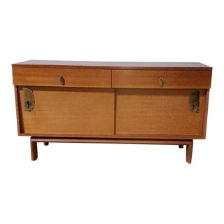 1950s Mid Century John Keal Saltman California Brown Mahogany Buffet For Sale