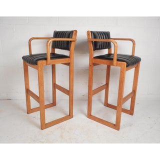 Pair of Mid-Century Modern Danish Bar Stools Preview