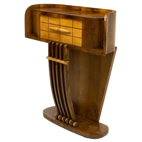 1930s French Art Deco Streamline Moderne Console For Sale