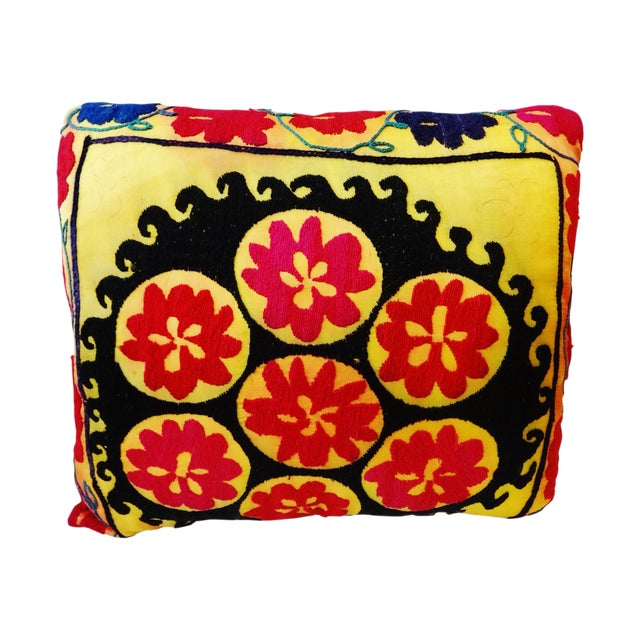 Vintage Uzbek Suzani Pillow - Image 1 of 8