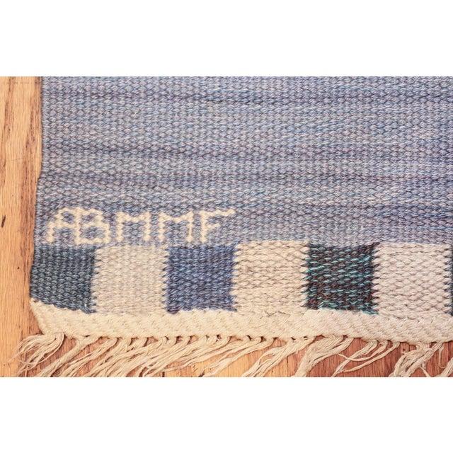 Märta Måås-Fjetterström Vintage Swedish Kilim Rug by Marianne Richter for Marta Maas - 7′4″ × 7′6″ For Sale - Image 4 of 11