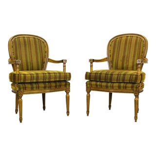 Mid-Century Neoclassical Style Side Chairs, a Pair For Sale