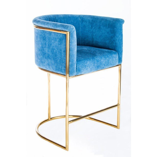 Mira Gold Counter Chair - Image 2 of 3