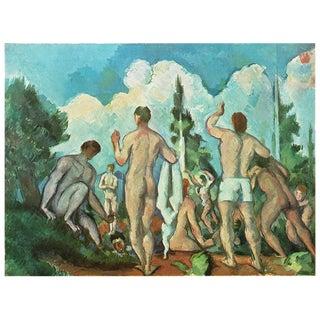 "1940s Paul Cezanne ""Bathers"" Swiss Color Plate For Sale"