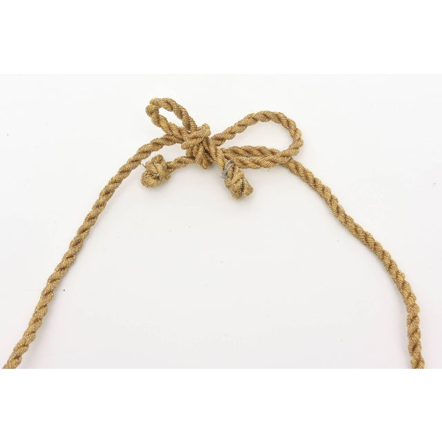 Mary McFadden Bronze and Silk Braided Rope Couture Sculptural Necklace For Sale - Image 9 of 10