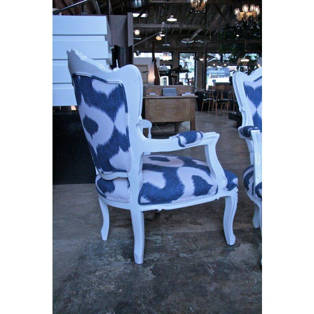 Italian White Lacquered Armchairs For Sale - Image 4 of 9