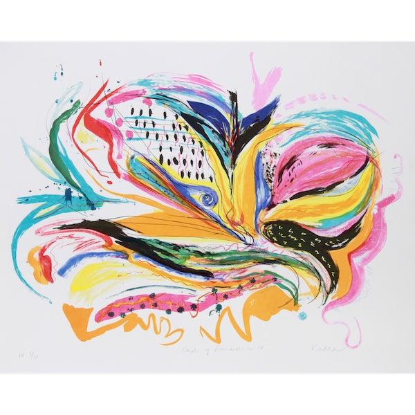 "Vick Vibha, ""Bird of Paradise Iv,"" Lithograph For Sale"