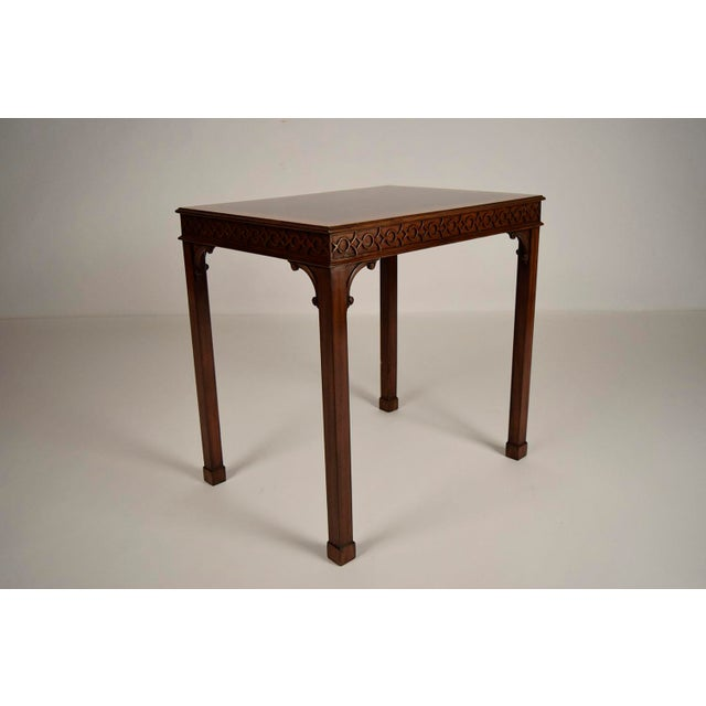 Traditional Mahogany Sheraton Style Side Table For Sale - Image 5 of 5