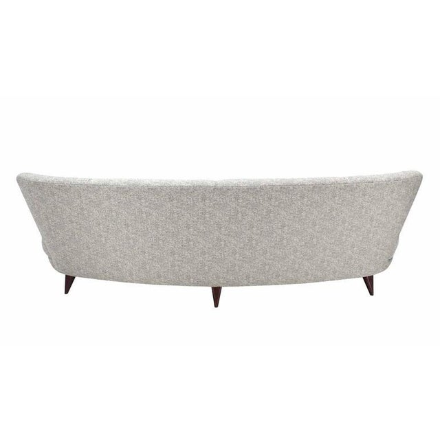 Lacquer New Upholstery Curved Cloud Sofa For Sale - Image 7 of 9