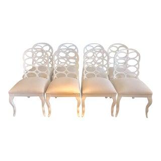 Vintage Frances Adler Elkin Loop Chairs - Set of 8 For Sale