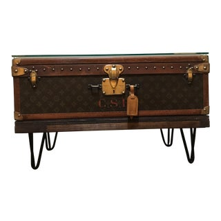 1950s Vintage Louis Vuitton Trunk Alzer Coffee Table For Sale