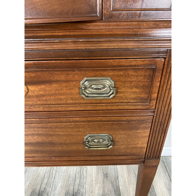 Wood 1950s Vintage Federal Style Cabinet For Sale - Image 7 of 12
