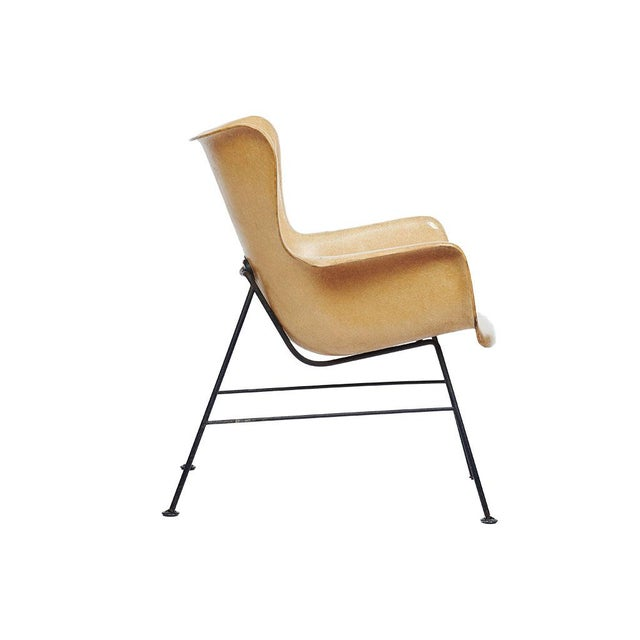 Boho Chic Mid-Century Modern Lawrence Peabody Wingback Chairs - A Pair For Sale - Image 3 of 9