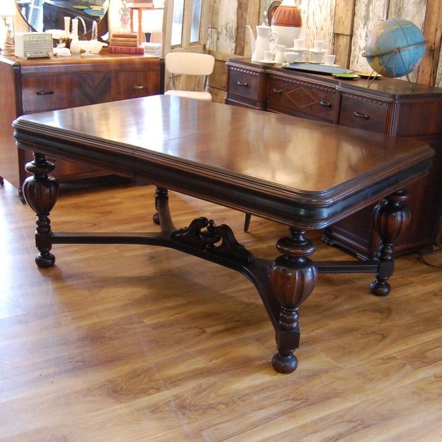 Like to entertain? This large, extra wide antique mahogony table will seat your large family gathering or a great evening...