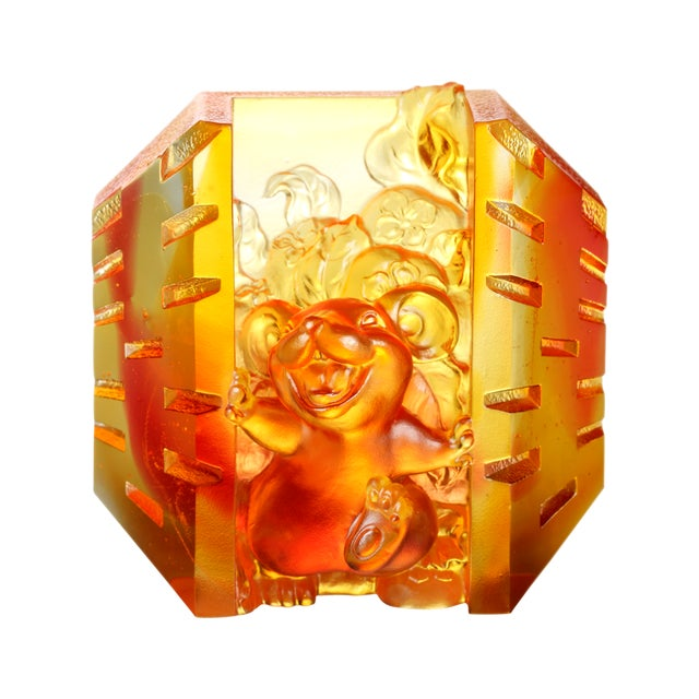 """2010s Crystal Mouse """"Open to Joy"""" Limited Edition Zodiac Sculpture For Sale - Image 5 of 5"""
