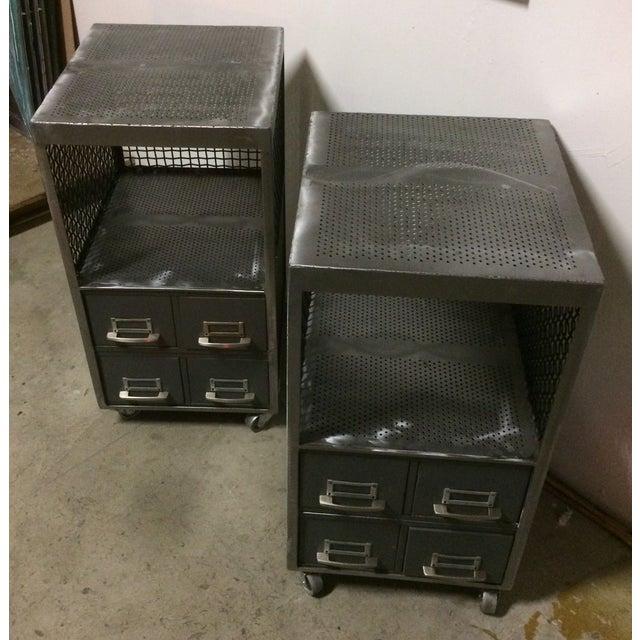 Repurposed Metal Industrial Tables - Pair - Image 2 of 7
