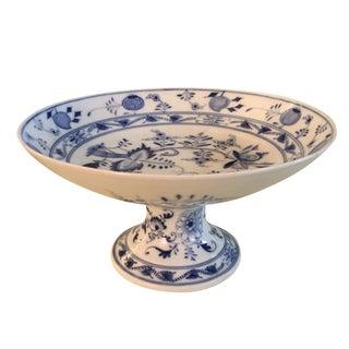 Chinoiserie Meissen Blue & White Bowl on Pedestal