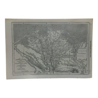 """1859 Antique Illustrated London News -- """"Map of Lower Egypt"""" Print For Sale"""