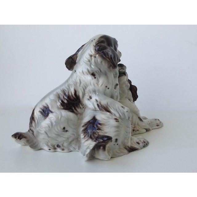 Ceramic Vintage Italian Porcelain Springer Spaniels For Sale - Image 7 of 11