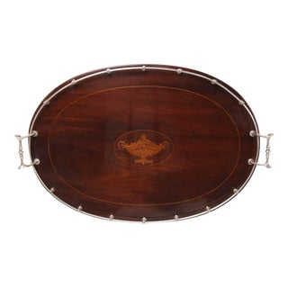 Inlaid Mahogany Tray With Sterling Silver Gallery