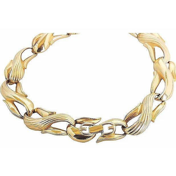 Givenchy Textured & Smooth Link Necklace For Sale In Philadelphia - Image 6 of 8