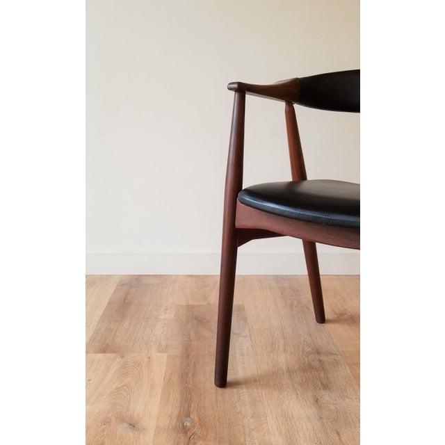 Thomas Harlev Model 213 Side Chair in Teak and Black Leatherette for Farstrup Møbler For Sale - Image 10 of 12