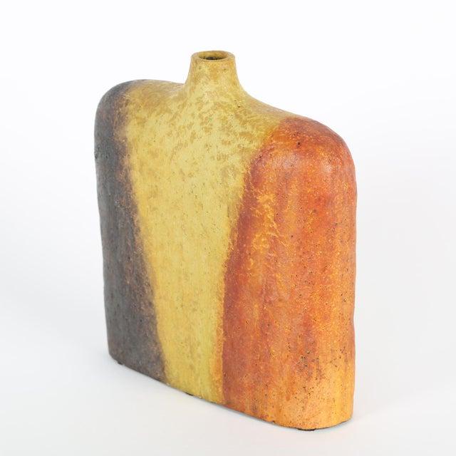 Ceramic 1960's MARCELLO FANTONI TRICOLOR VASE For Sale - Image 7 of 9