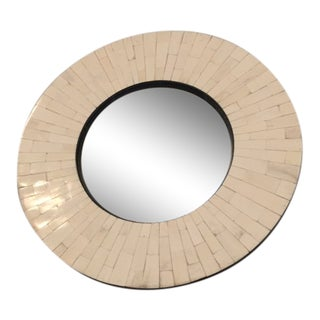 Tessellated Inlay Bullseye Mirror For Sale