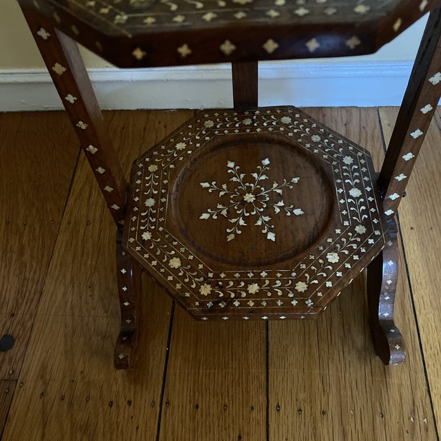 Anglo Indian Bone Inlaid Cake Stand For Sale - Image 4 of 13