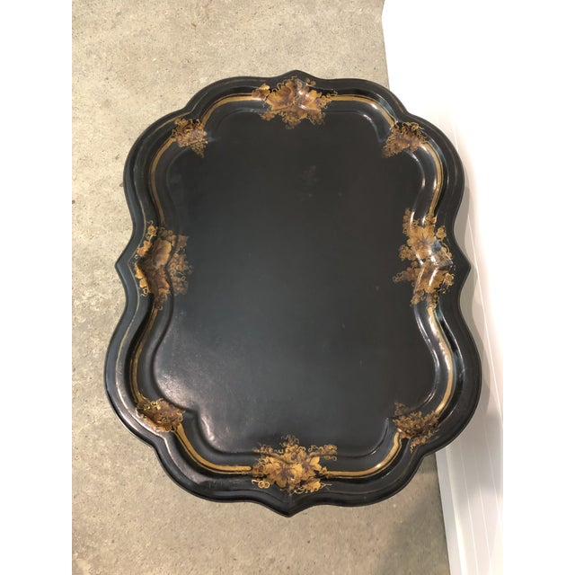 Early 19th Century 19th Century Regency Papier-Mache Tray on Stand For Sale - Image 5 of 12