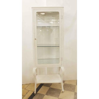 Antique White Medical Cabinet Preview