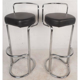 Mid-Century Modern Bar Stools - A Pair Preview