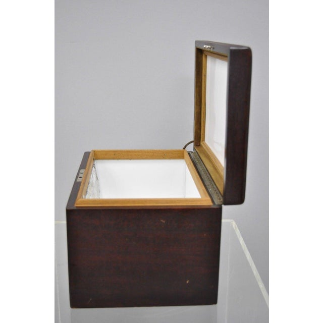 Early 20th Century Early 20th Century Antique Mahogany Cigar Humidor For Sale - Image 5 of 11