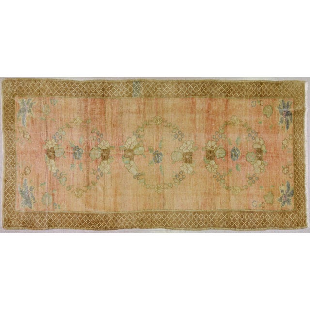 Vintage Turkish Oushak Hand Knotted Organic Wool Fine Weave Rug,5'x10' For Sale In New York - Image 6 of 6