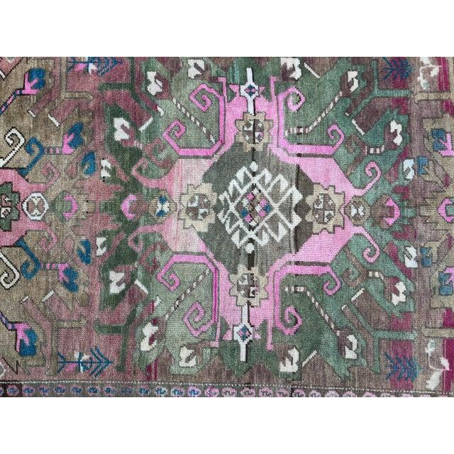 Textile 1960s Vintage Oushak Turkish Rug - 4′9″ × 10′7″ For Sale - Image 7 of 11