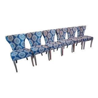Upholstered Dining Chairs - Set of 6 For Sale
