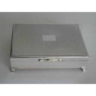 English Silver Plate Footed Table Box Preview