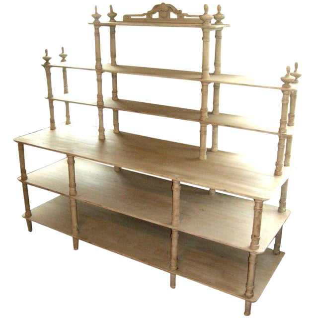 Grey Painted French Shelving Unit - Image 1 of 8