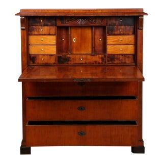 Biedermeier Mahogany Secretaire, Circa 1840 For Sale