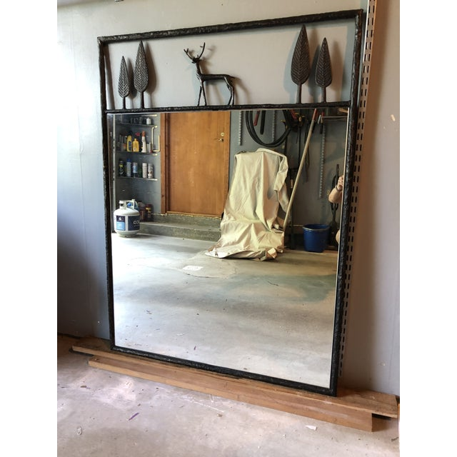 Carol Gratale's classic Giacometti-inspired stag mirror (item #0799). The mirror measures 36W x 48H and is constructed of...