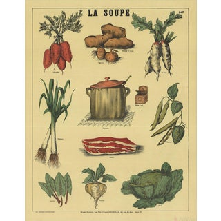 Emile Deyrolle, La Soupe, Offset Lithograph. 1965 For Sale