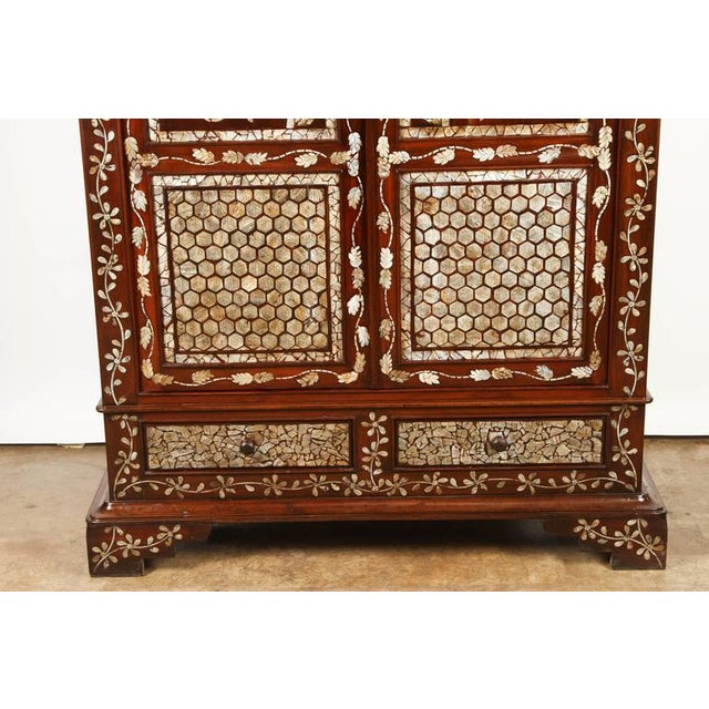 Mid 19th Century Colonial Rosewood Cabinet with Mother-of-Pearl For Sale - Image 5 of 10