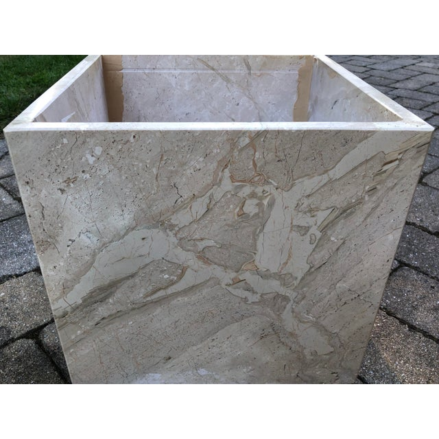 Art Deco Italian Travertine Coffee Table For Sale - Image 9 of 13
