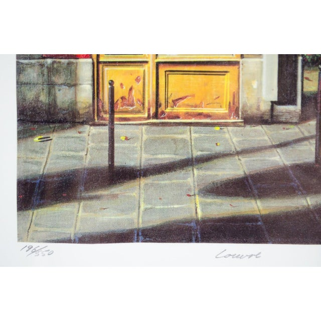 """1990's Vintage """"Louvre"""" Edition 196/550 Seri-Lithograph by Louis Robichaud For Sale In Atlanta - Image 6 of 13"""