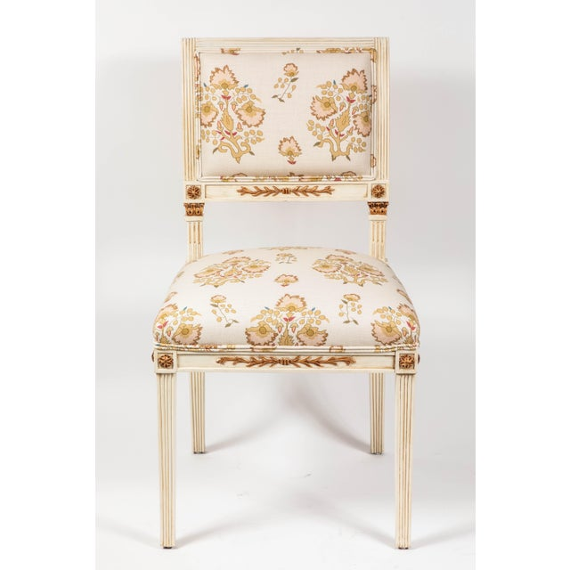 Dining Chairs Newly Upholstered in Penny Morrison 100% Linen - Set of 6 For Sale - Image 9 of 13