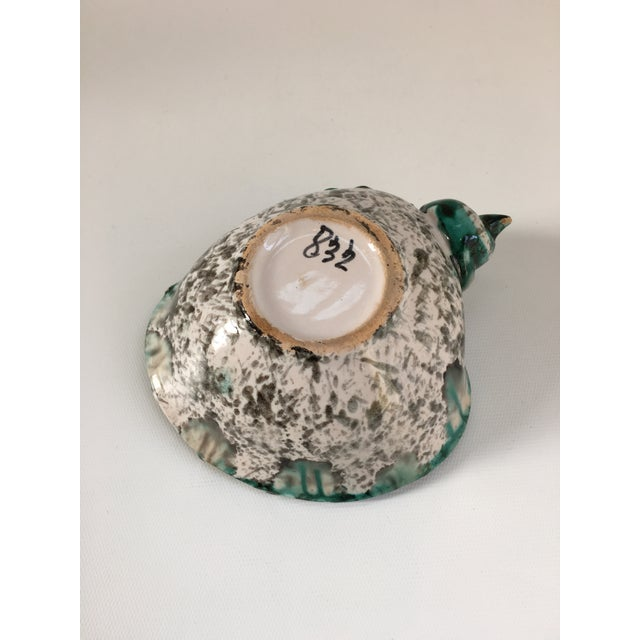 Italian Vintage Terra Cotta Seashell Catchall Bowl For Sale In Boston - Image 6 of 8