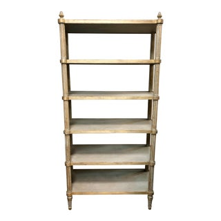 Shabby Chic Style Wooden Etagere For Sale