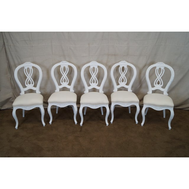 French Style White Dining Chairs - Set of 10 - Image 2 of 7
