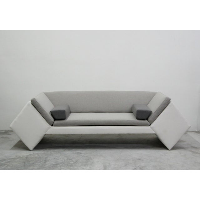 Milo Baughman for Thayer Coggin Post Modern Geometric Sofa and Chair With Ottoman Set by Thayer Coggin For Sale - Image 4 of 13